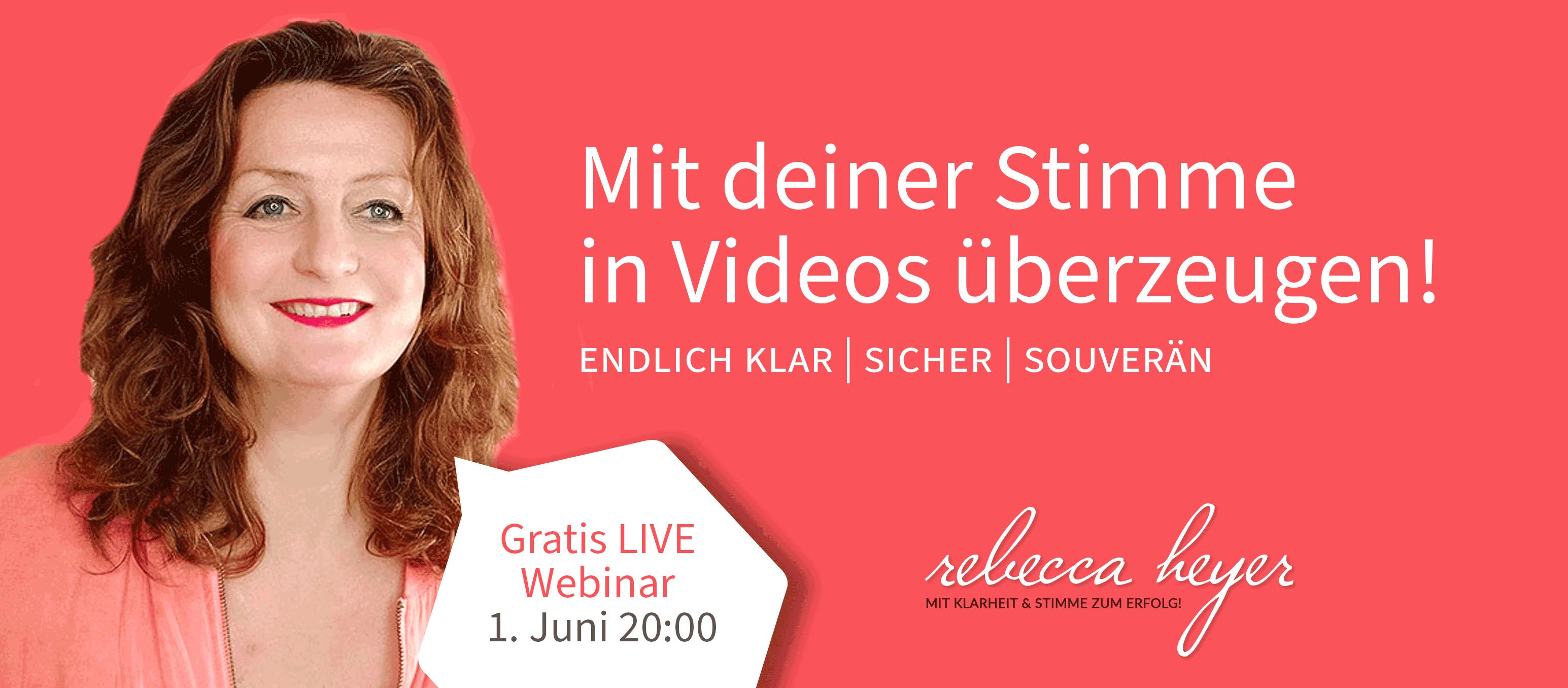 Rebecca Heyer - Mit Klarheit & Stimme zum Erfolg!